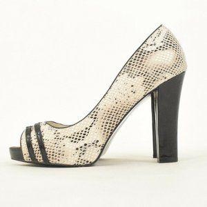 White House Black Market Embossed Snakeskin Heels